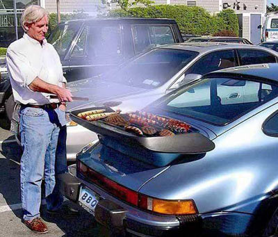 porsche barbecue
